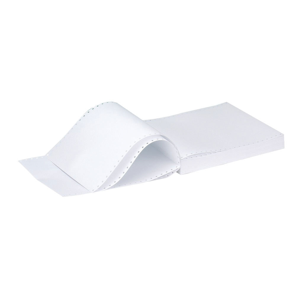 Q-Connect 11x9.5 Inches 1-Part 60gsm Plain Micro-Perforated Listing Paper C16MP