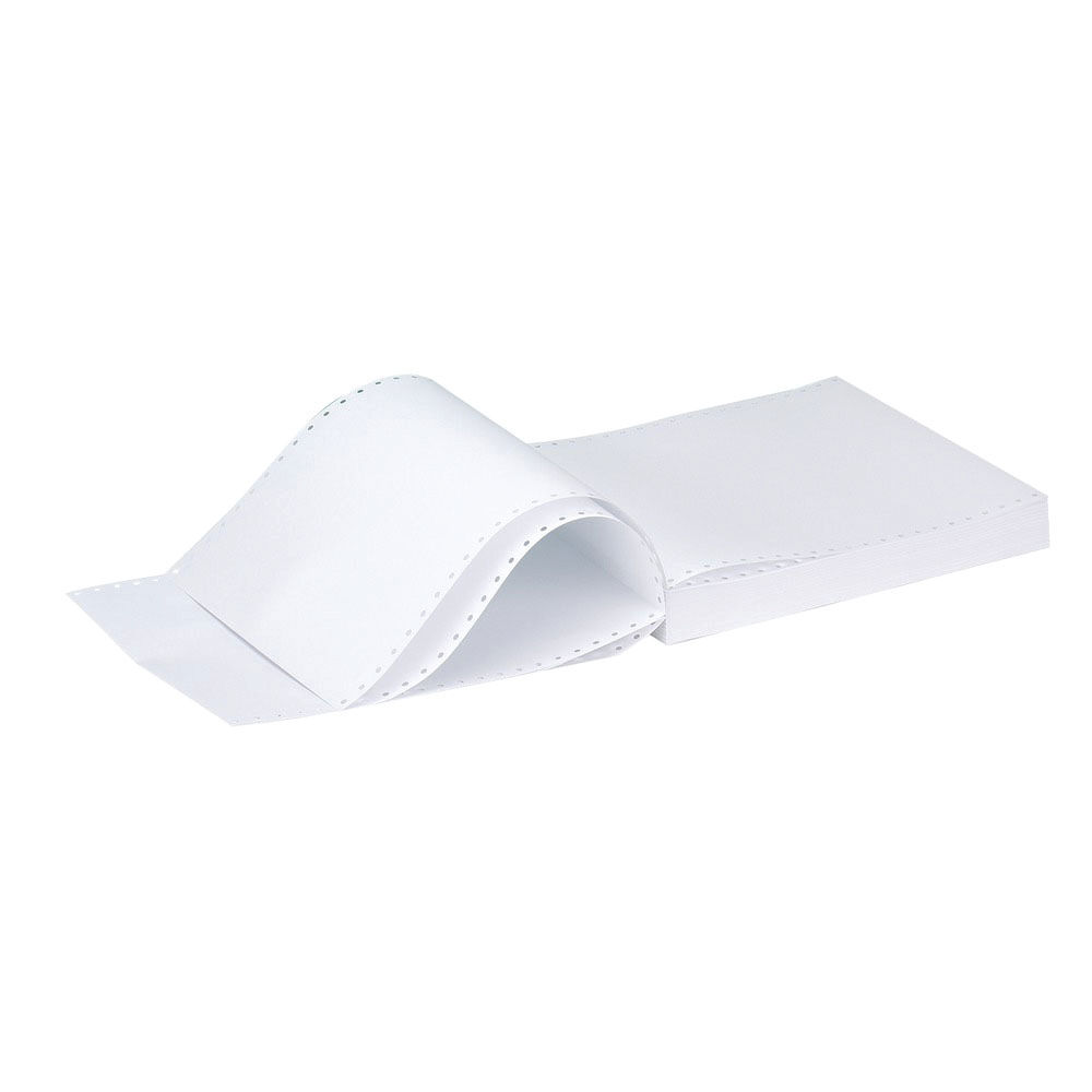 Q-Connect 11x9.5 Inches 1-Part 70gsm Plain Micro-Perforated Listing Paper C17MP