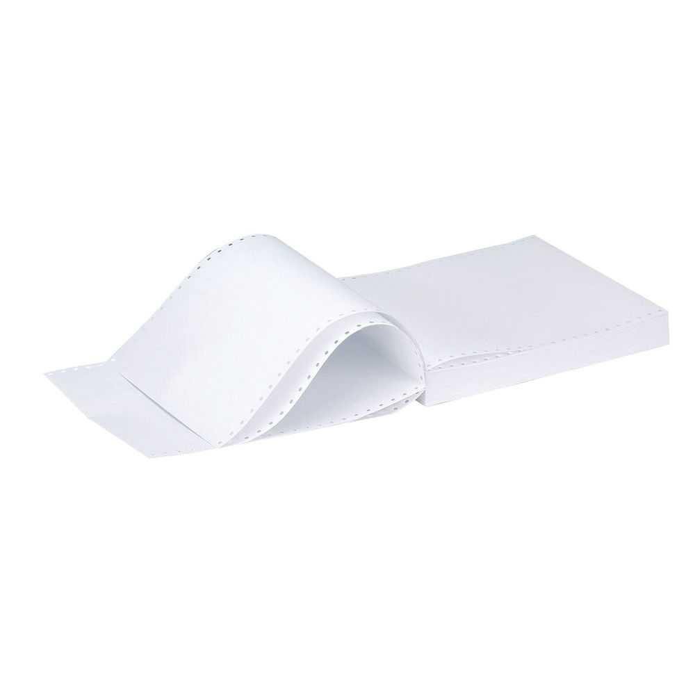 Q-Connect 11x14.5 Inches 1-Part 70gsm Plain Listing Paper (Pack of 2000) KF50071