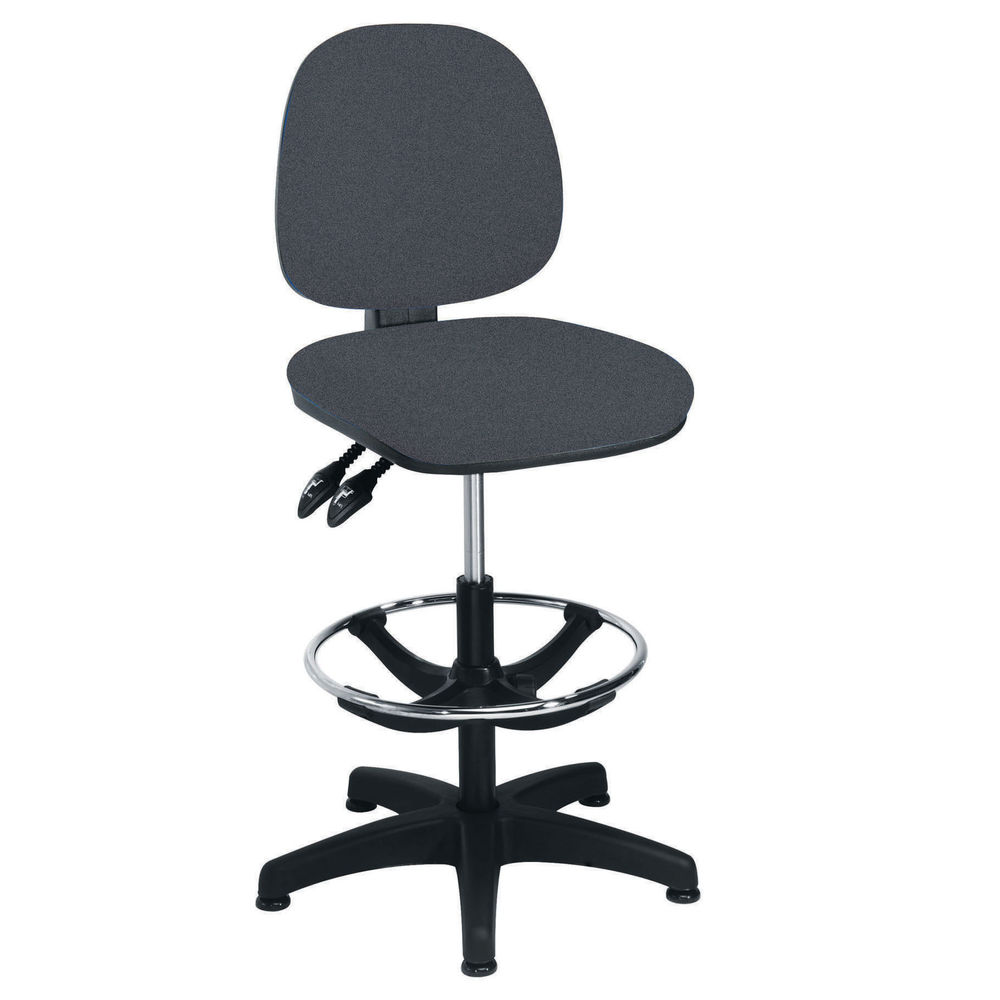 Arista Charcoal Adjustable Foot Rest Draughtsman Chair