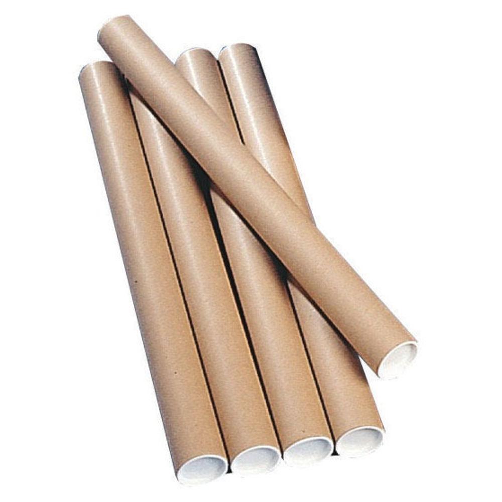Kraft 450 x 76mm Brown Postal Tubes, Pack of 12 - PT-076-15-0450