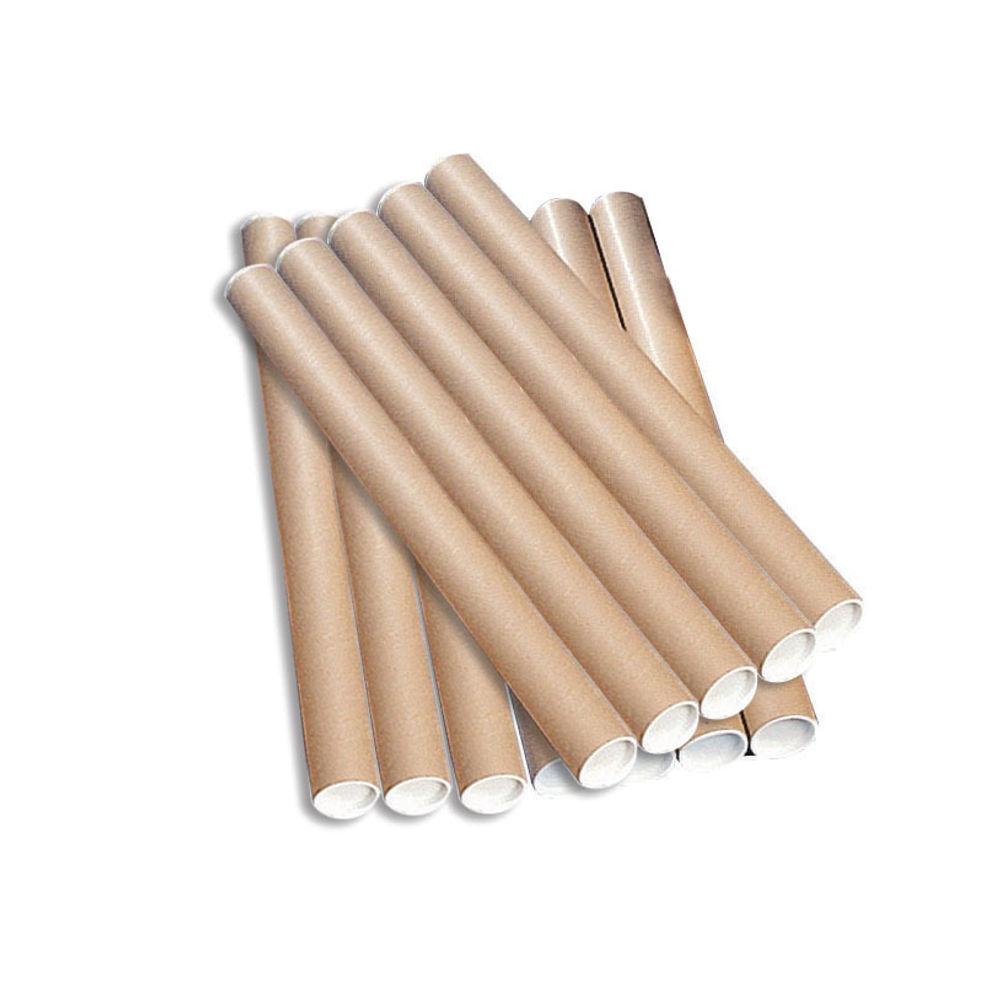Kraft 760 x 76mm Brown Postal Tubes, Pack of 12 - PT-076-15-0760