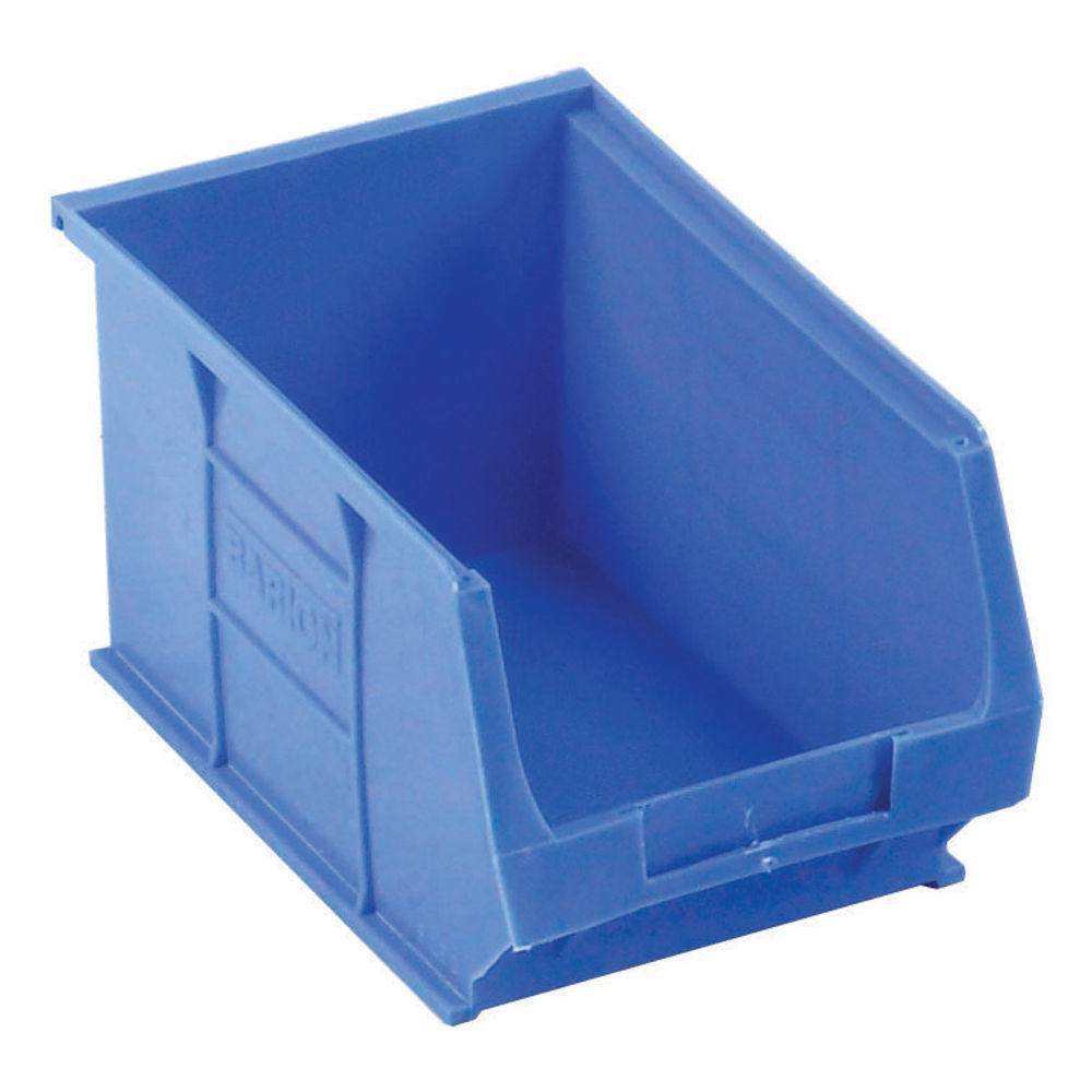 Barton TC3 4.6 Litre Blue Semi-Open Front Small Parts Containers, Pack of 10 - 010031