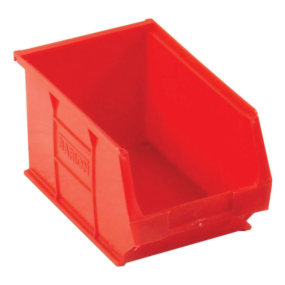 Barton TC3 4.6 Litre Red Semi-Open Front Small Parts Containers, Pack of 10 - 010032