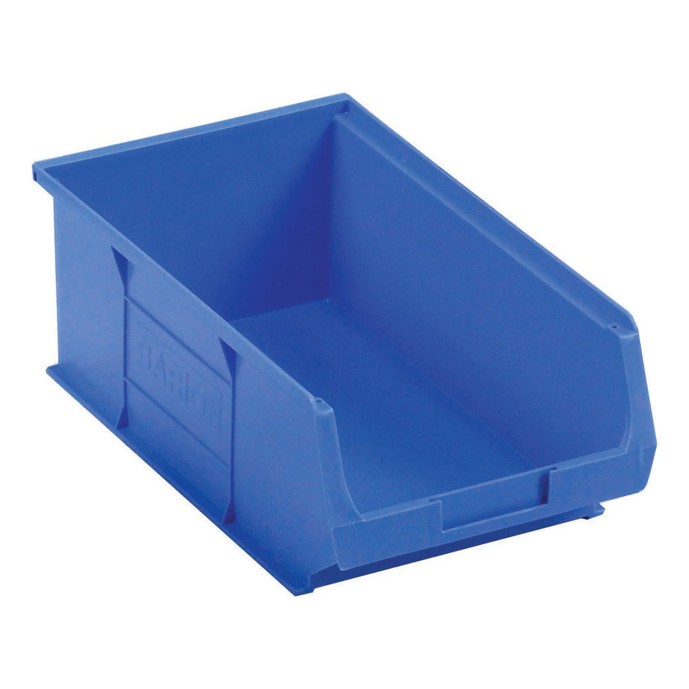 Barton TC4 9.8 Litre Blue Semi-Open Front Small Parts Containers, Pack of 10 - 010041