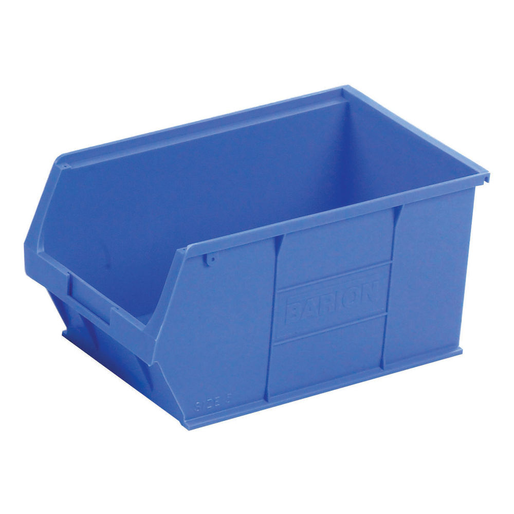 Barton TC5 12.8 Litre Blue Semi-Open Front Small Parts Containers, Pack of 10 - 010051
