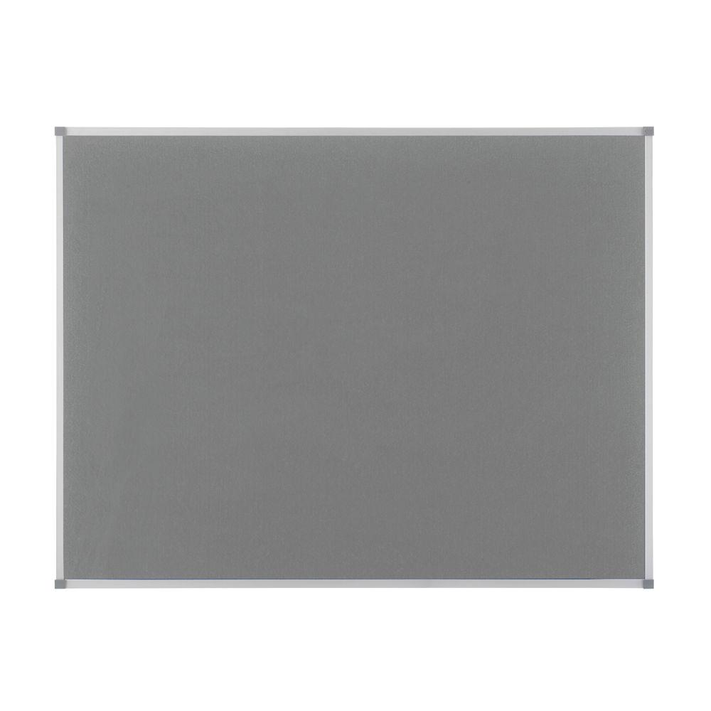 Nobo Ellipse Notice Board in Grey - NB11209