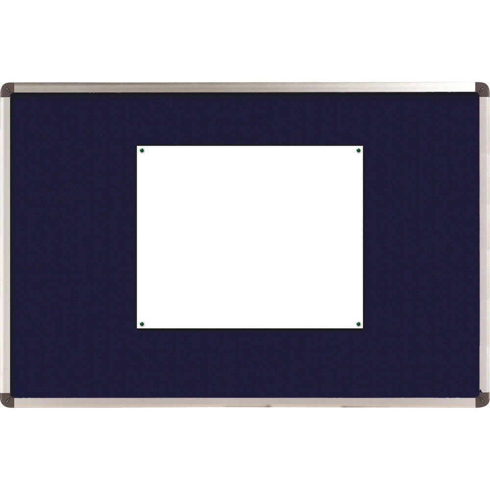 Nobo Classic Felt Notice Board, 1200 x 900mm, Blue - NB11214