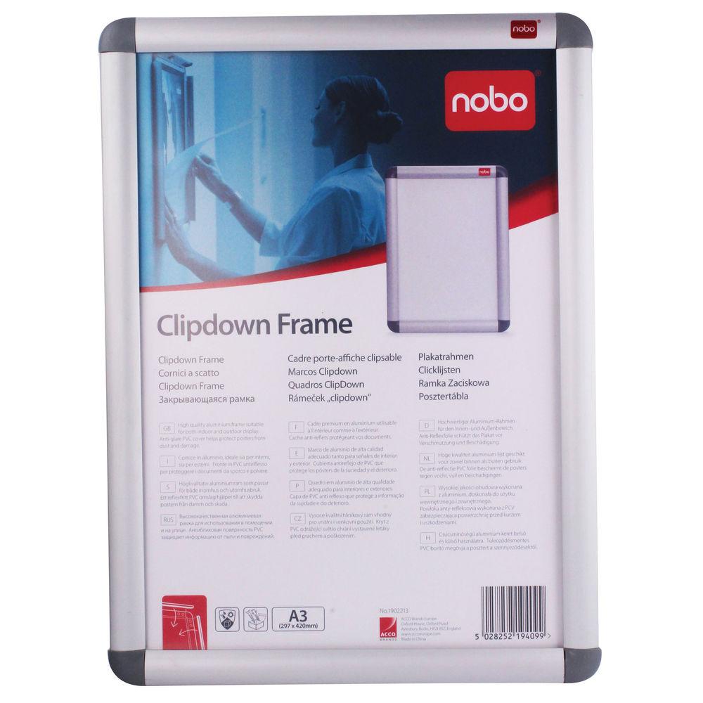 00f1c2a4369 Nobo Silver Clip A3 Frame - 1902213