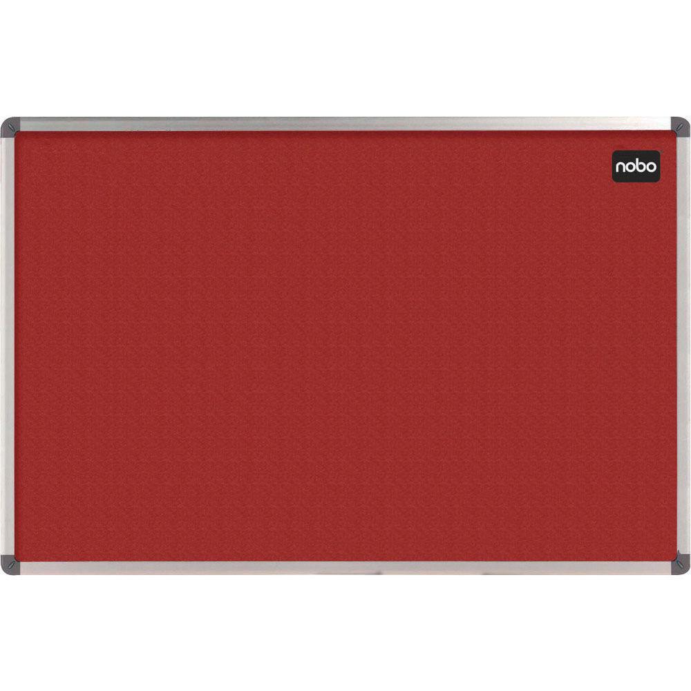 Nobo Classic Felt Notice Board, 1200 x 900mm, Red - NB19705