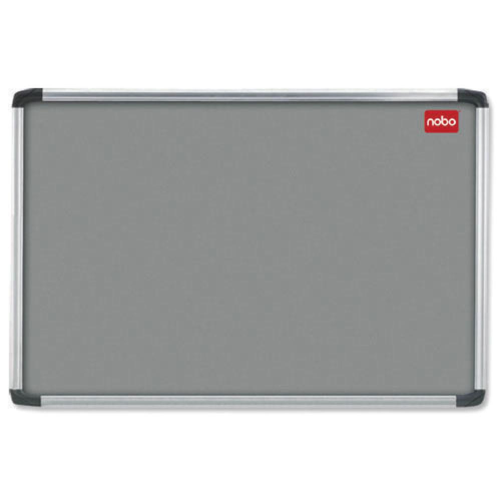 Nobo EuroPlus Notice Board, 1200 x 900mm, Grey - 30230158