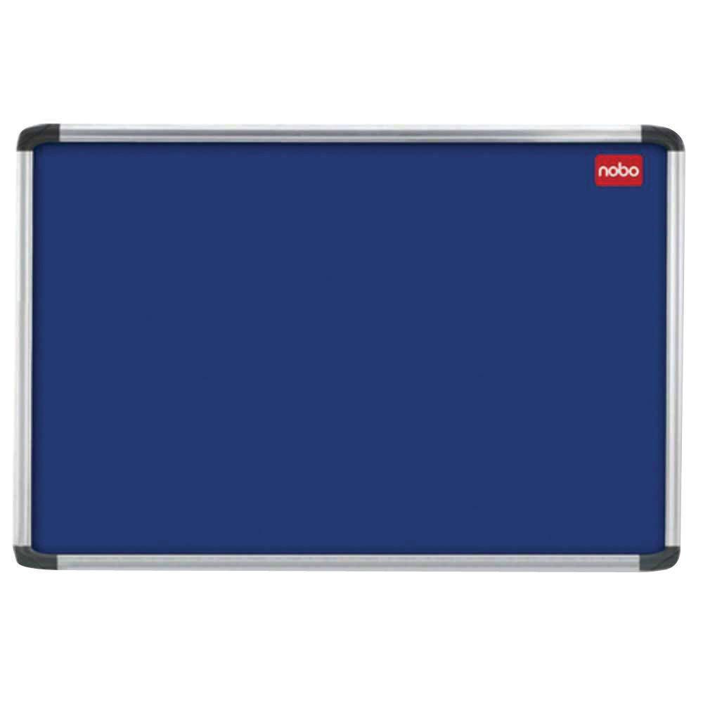 Nobo Euro Plus Felt Notice Board, 2400 x 1200mm, Blue - 30230185