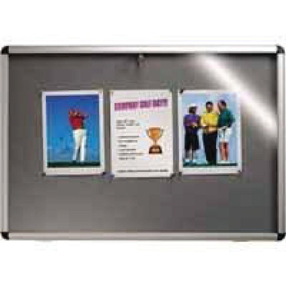 Nobo 1060 x 1350mm Grey Felt Internal Display Case - 31333501