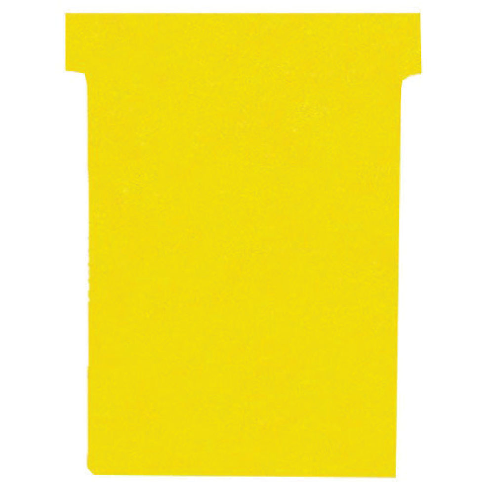 Nobo Yellow T-Cards - Size 2 - (Pack of 100) - 32938904