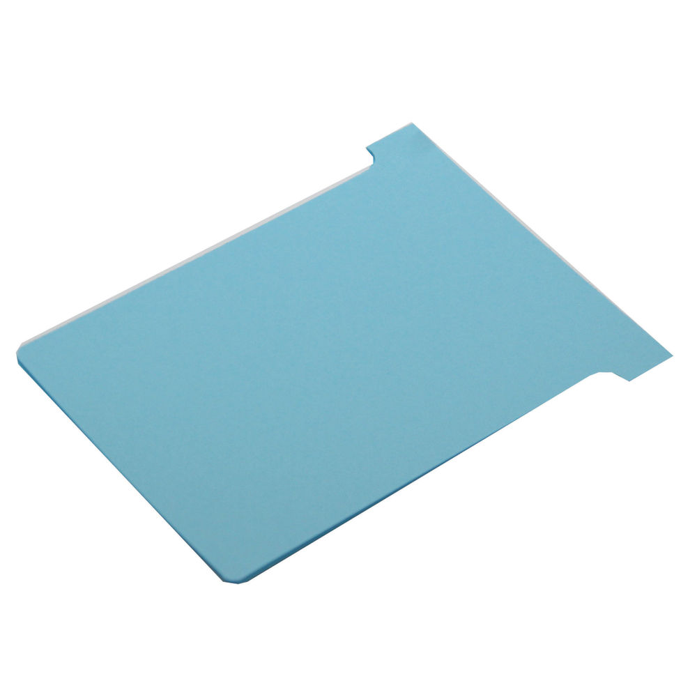Nobo T-Card Size 2 48 x 85mm Light Blue (Pack of 100) 2002006