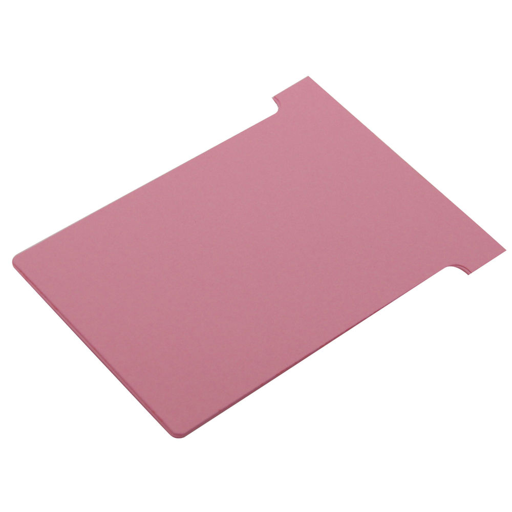 Nobo Pink T-Cards - Size 3 - (Pack of 100) - 32938916