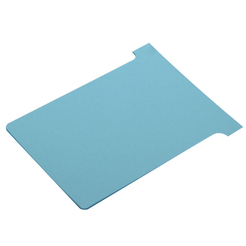 Nobo Light Blue T-Cards - Size 3 - (Pack of 100) - 32938919