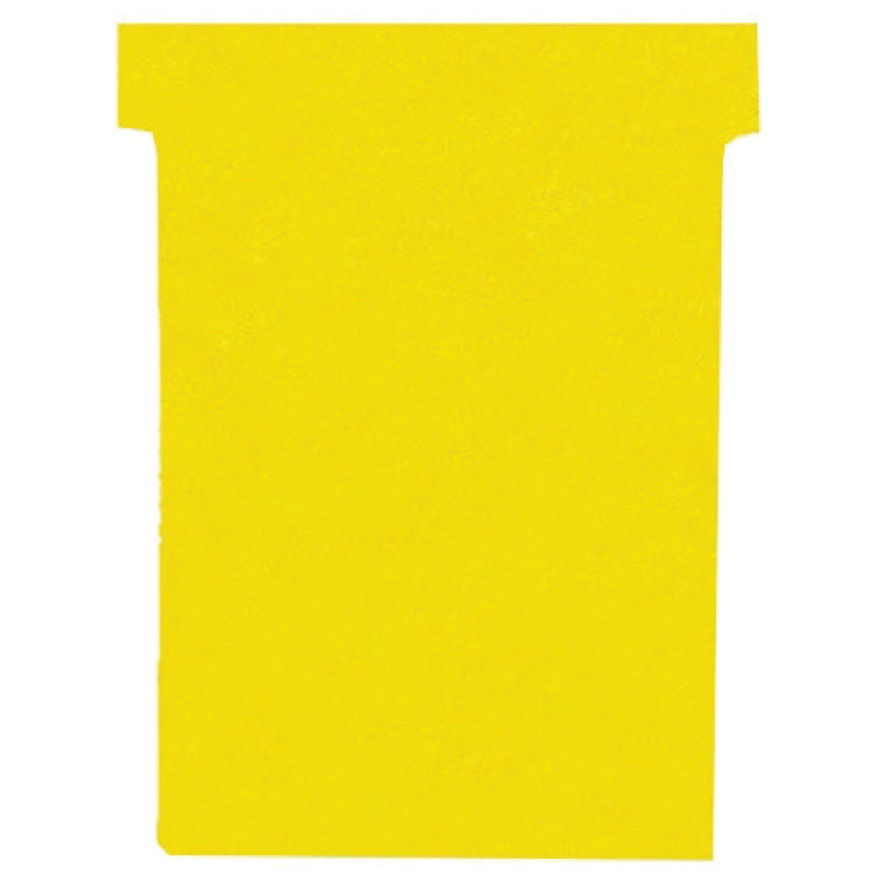 Nobo Yellow T-Cards - Size 4 - (Pack of 100) - 32938926