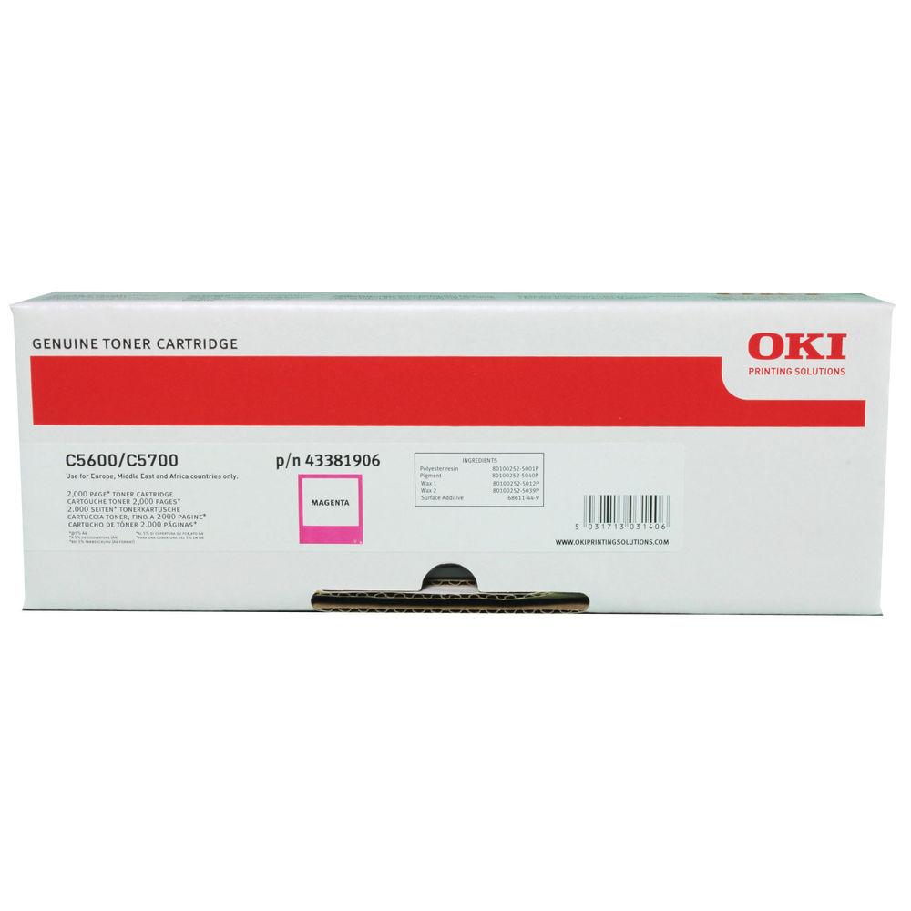 Oki Magenta Laser Toner Cartridge – 43381906