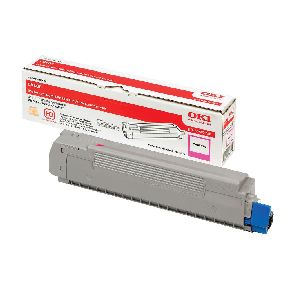 Oki C8600/C8800 Magenta Toner Cartridge (Capacity: 6000 pages) 43487710