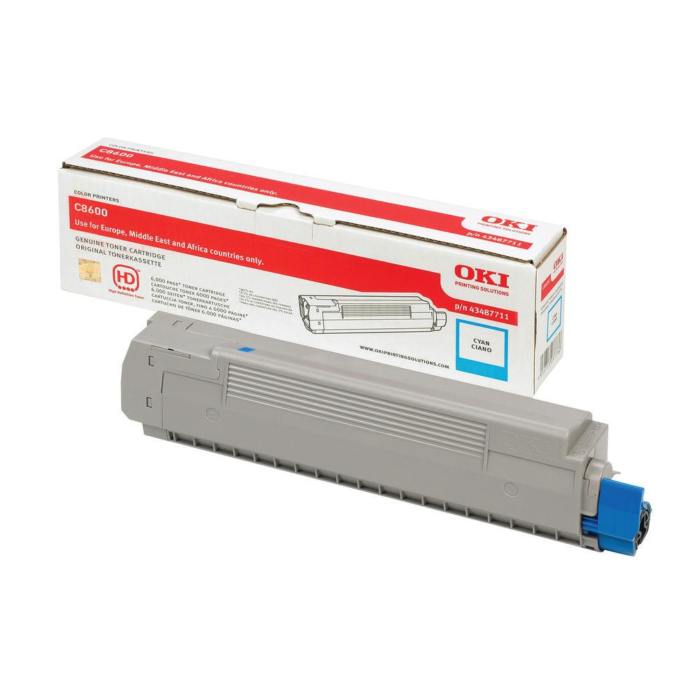 Oki Cyan Toner Cartridge - 43487711