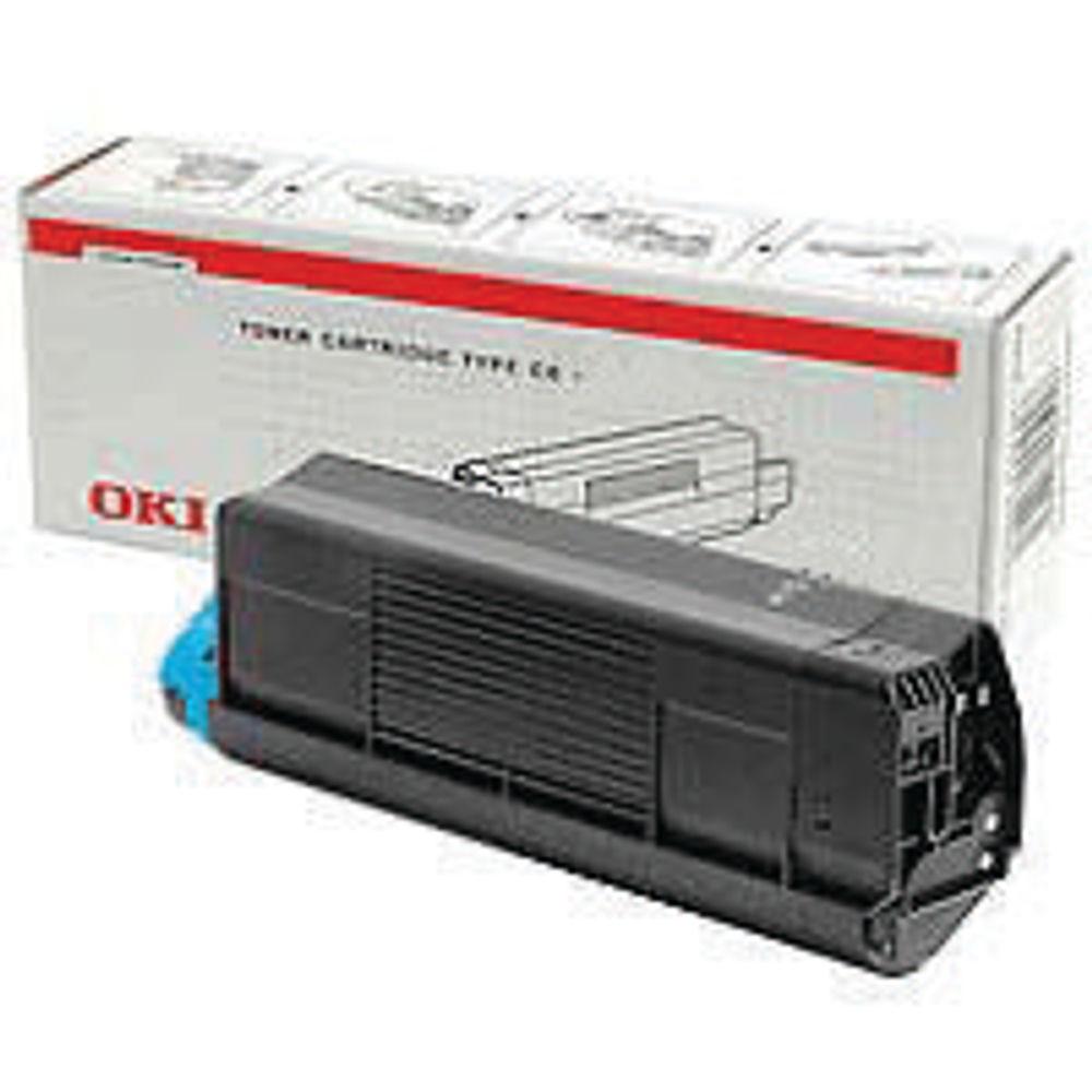 Oki Cyan Toner Cartridge - High Capacity 43459323