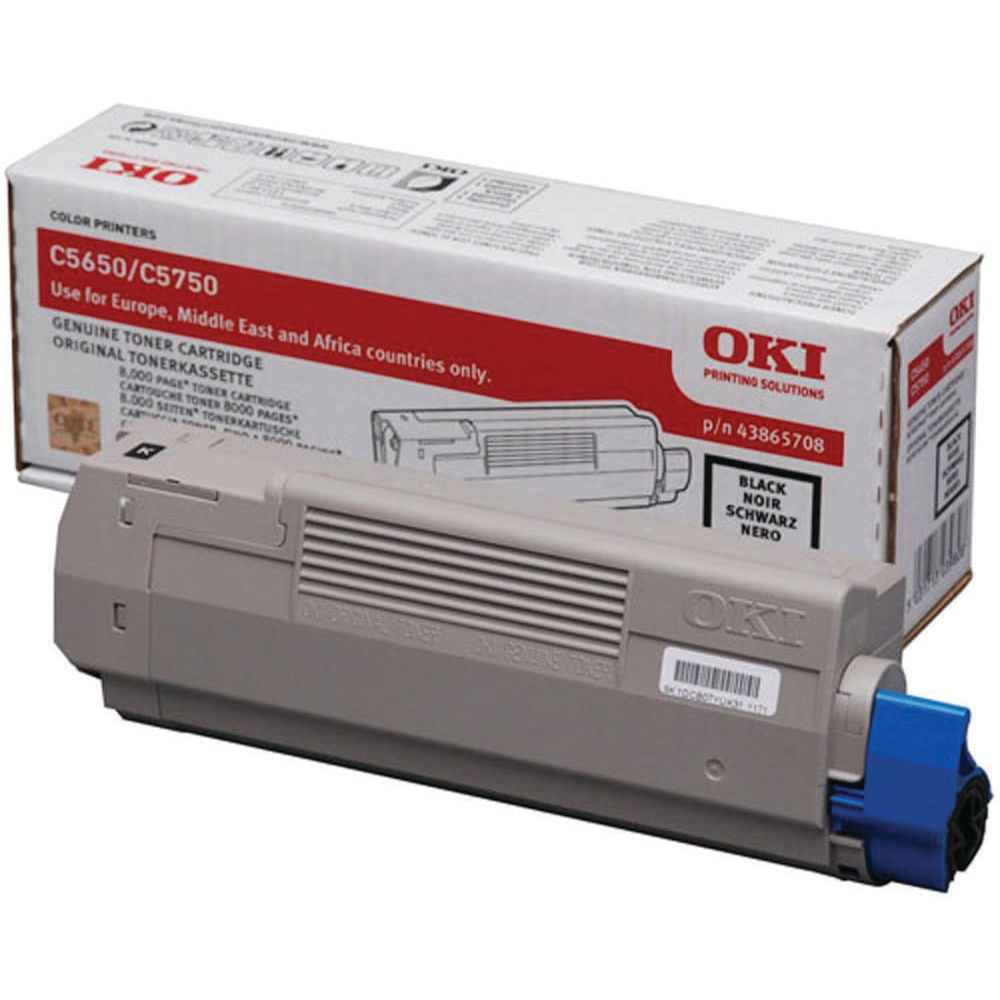 Oki C5650/C5750 Black Toner Cartridge - 43865708