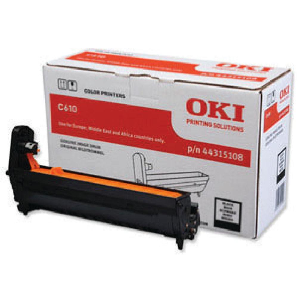 Oki C610 Black Image Drum 20K 44315108