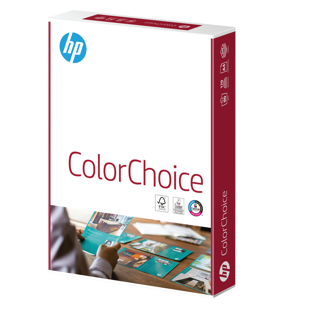HP Color Choice A4 White Paper 100gsm, Pack of 500 Sheets | HCL0324