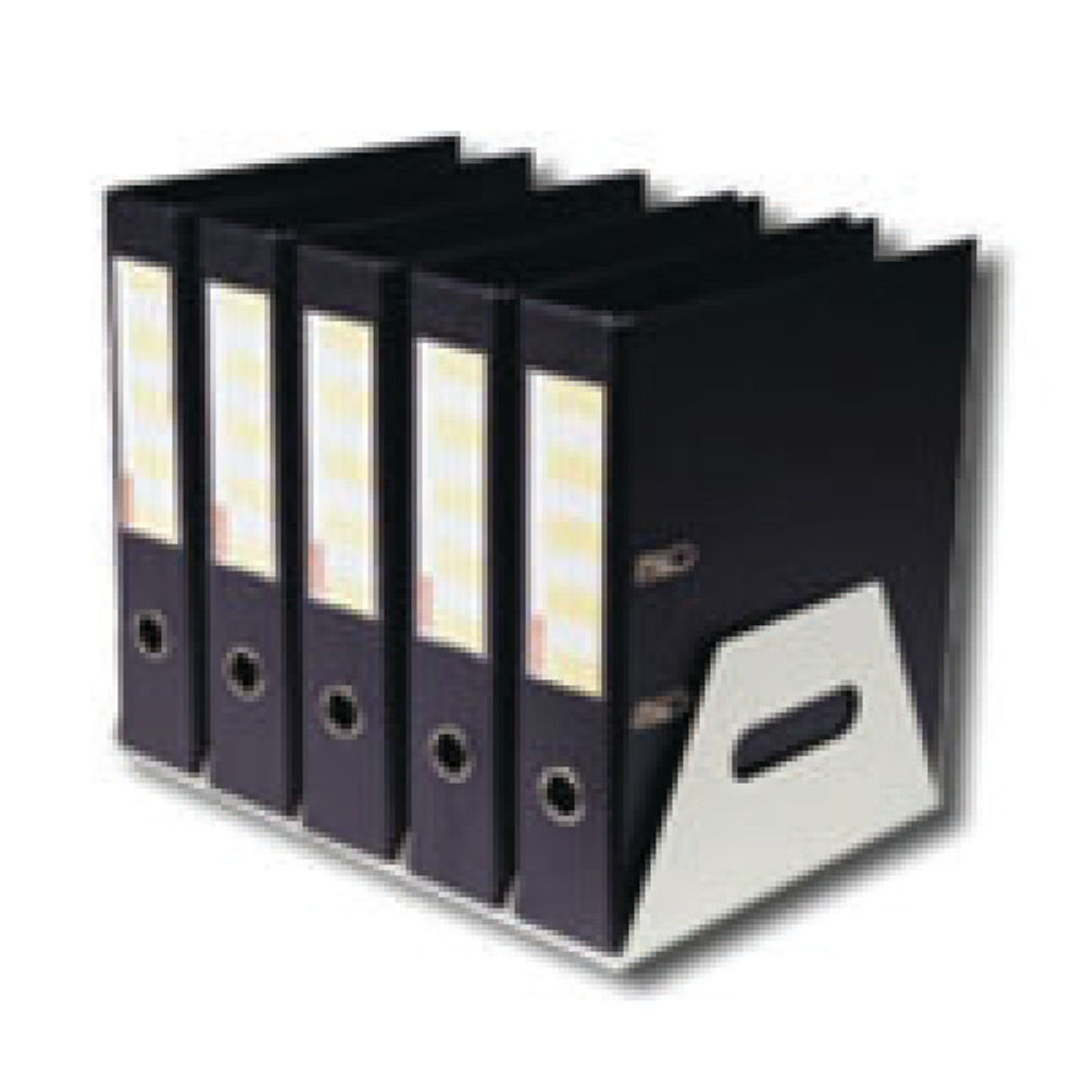 Rotadex Silver Metal 5 Section Lever Arch File Rack - LAR5GMETAL