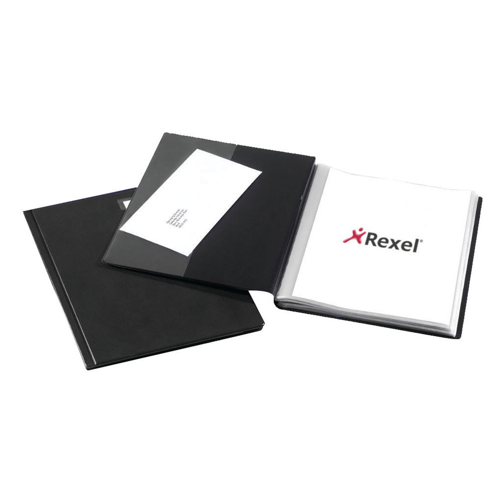 Rexel Nyrex Slimview A4 Display Book 50 Pocket Black 10048BK