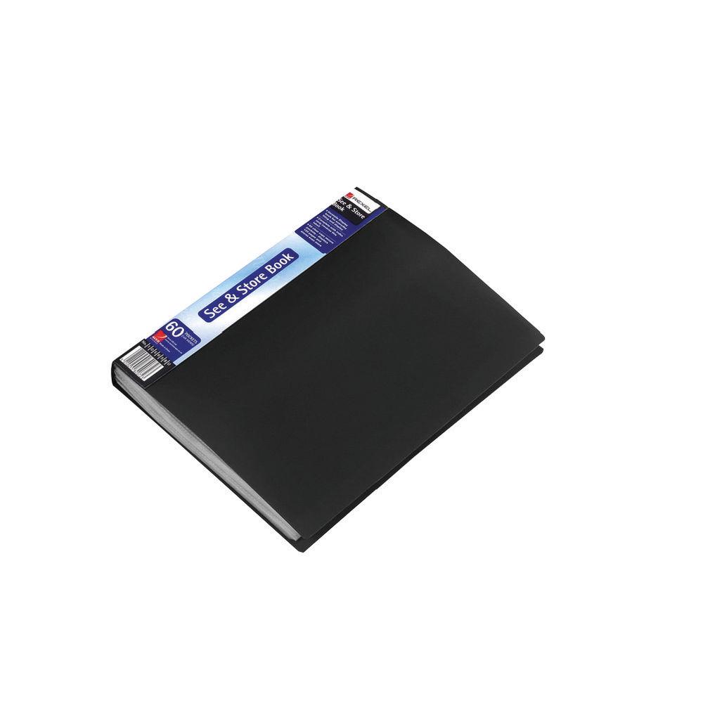 Rexel A4 Black 60 Pocket Display Book - RX10565BK