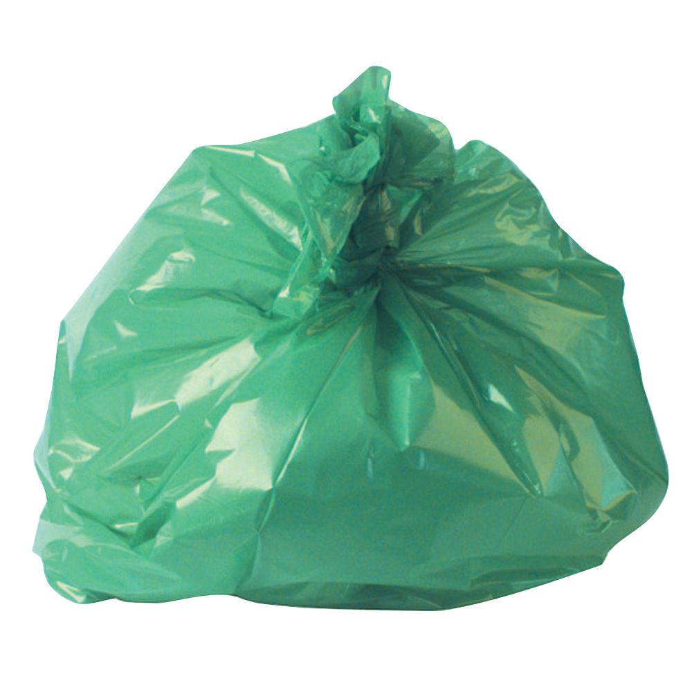2Work Refuse Sack 100g Green, Pack of 200 - RY15561