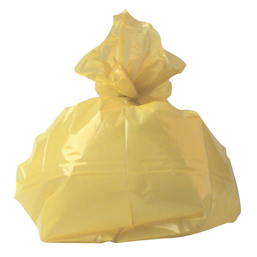 2Work Medium Duty Refuse Sack Yellow (Pack of 200) RY15581