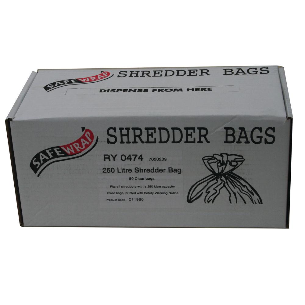 Safewrap Shredder Bag 250L, Pack of 50 - RY0474