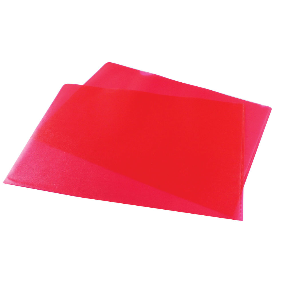 Red A4 Cut Flush Folders (Pack of 100) - WX01485