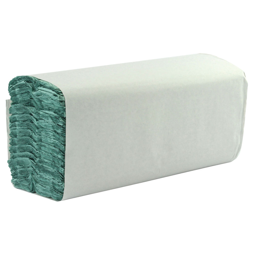 1-Ply Green C-Fold Hand Towels, Pack of 2850 - HTG2850