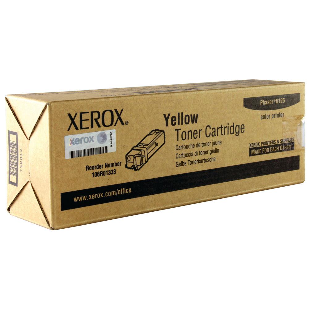 Xerox 6125 Yellow Toner Cartridge - 106R01333
