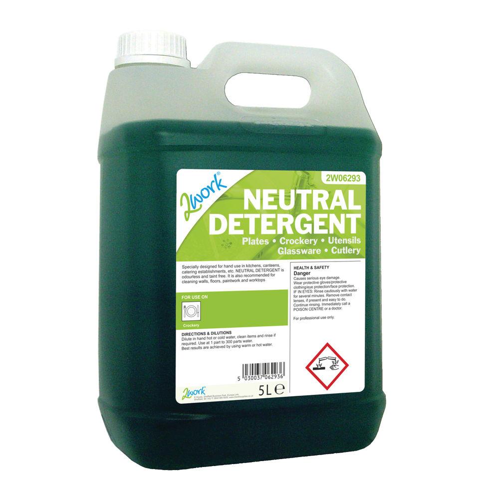 2Work Dishwasher Neutral Detergent 5 Litre - 432 TFN