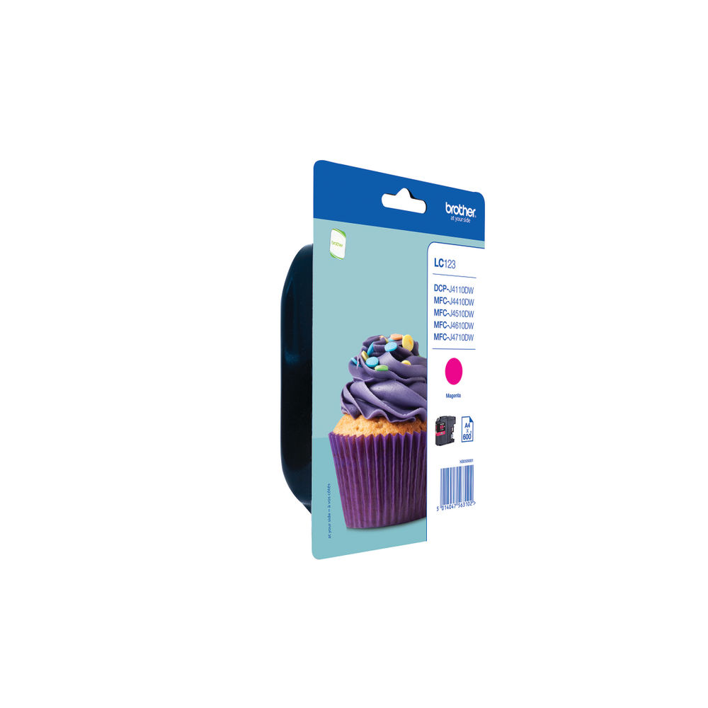 Brother LC123M Magenta Ink Cartridge - LC123M