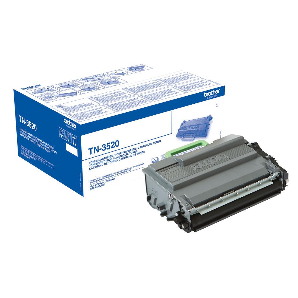 Brother TN3520 Ultra High Capacity Black Toner Cartridge - TN3520