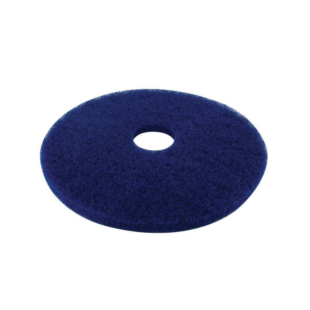 3M 430mm Blue Cleaning Floor Pads, Pack of 5 - 2NDBU17