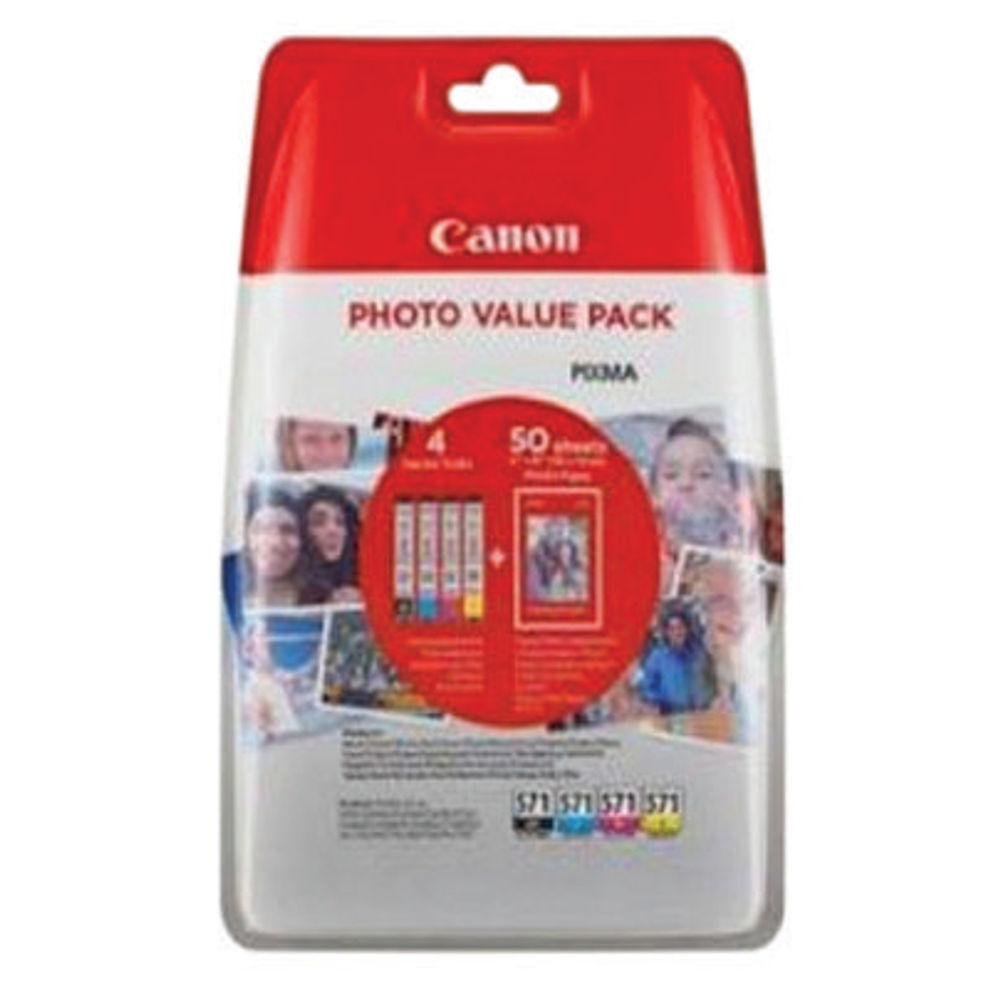Canon CLI-571 Ink Cartridge Photo Value Pack - 0386C006