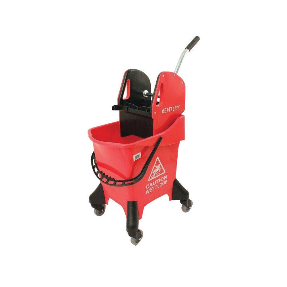 Hygineer 31 Litre Red Ergonomic Heavy Duty Mop Bucket - VOW/HRMB31/R