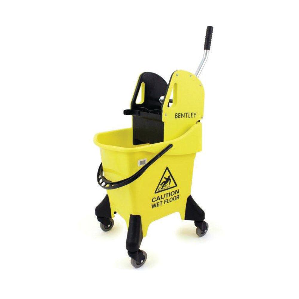 Hygineer 31 Litre Yellow Ergonomic Heavy Duty Mop Bucket - VOW/HRMB31/Y