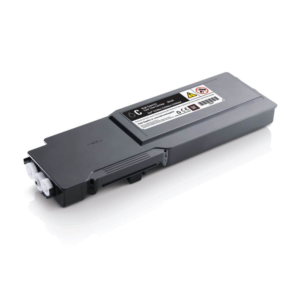 Dell Cyan Toner Cartridge High Capacity (For use with Dell C3760n, C3760dn and C3765dnf) 593-11118