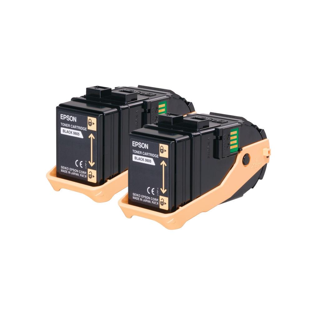 Epson S050609 Black Toner Cartridge Twin Pack (Pack of 2) C13S050609