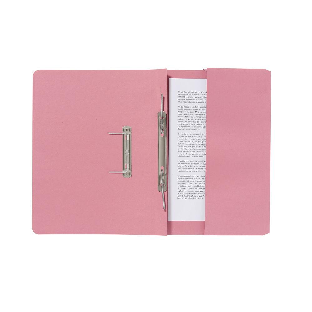Exacompta Guildhall Pocket Spiral File 285gsm Pink (Pack of 25) 347-PNKZ