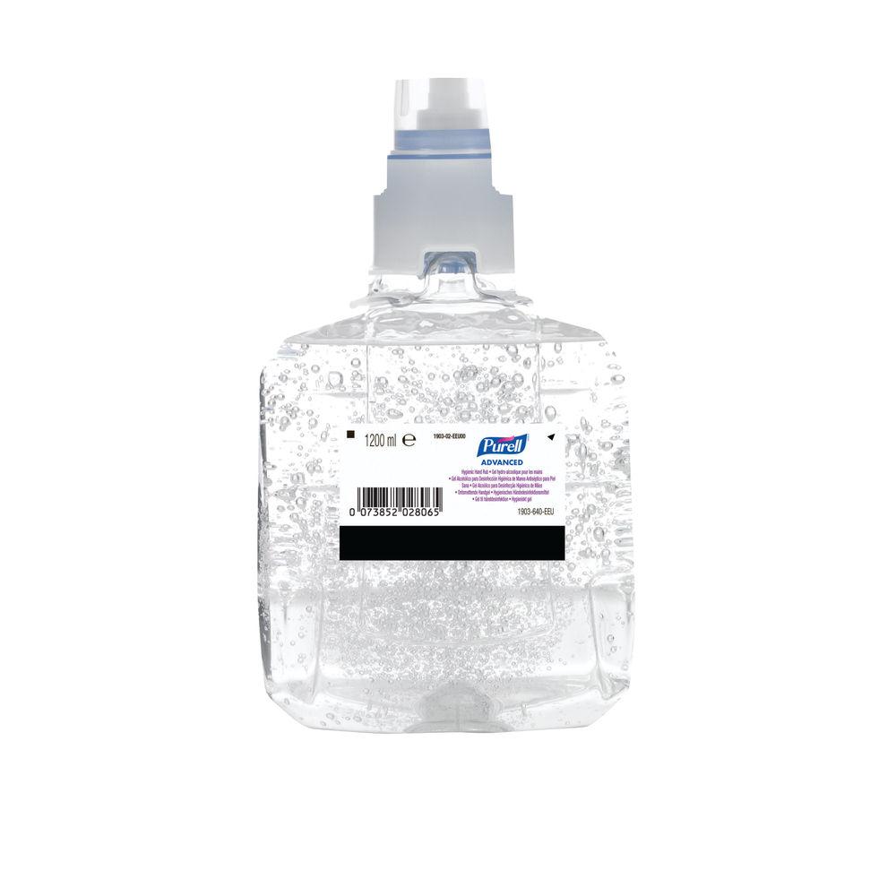 Purell 1200ml LTX12 Advanced Hygienic Hand Rub, Pack of 2 - 1903-02-EEU00