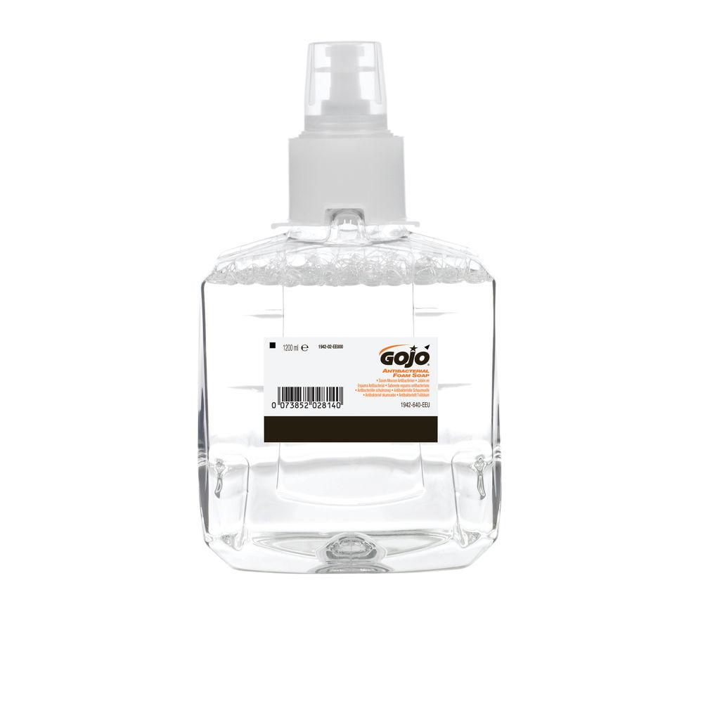 Gojo 1200ml LTX-12 Antimicrobial Foam Soap, Pack of 2 - 1952-02-EEU00
